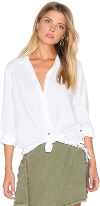 Bella Dahl Side Lace Button Down $151 thestylecure.com