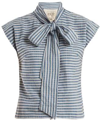 Ace&Jig Page Striped Cotton Top - Womens - Blue Stripe