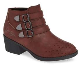 Jessica Simpson Perforated Buckle Bootie