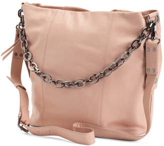 Dante Leather Large Double Compartment Hobo