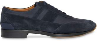 Burberry Neoprene Panel Suede Lace-up Shoes