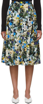 Erdem Multicolor Floral Ina Skirt