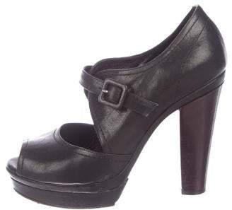 Sonia Rykiel Leather Peep-Toe Pumps