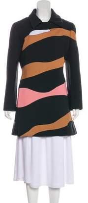 Christian Dior Colorblock Wool Short Coat