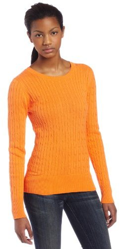 Sweet Romeo Women's V-neck Cable Sweater