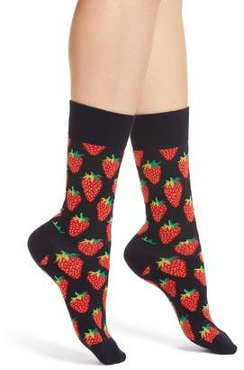 Happy Socks Strawberry Crew Socks