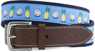 Vineyard Vines Pineapple & Coconut Canvas Club Belt