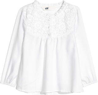 H&M Blouse with Lace - White