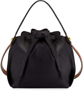 Anya Hindmarch Shoelace Drawstring Small Bucket Bag, Black