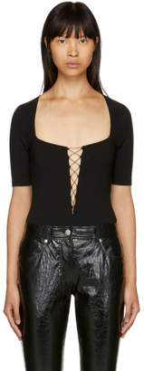 Alexander Wang Black Criss Cross Bodysuit