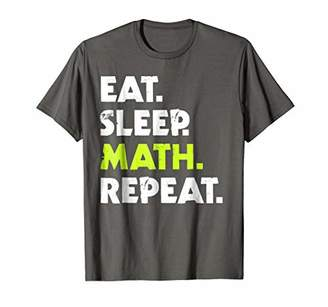 Eat Sleep Math Repeat t-shirt. Funny math tshirt.