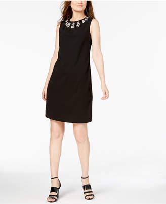 Calvin Klein Jewel-Neck Sleeveless Sheath Dress