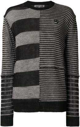 McQ stripe panel top