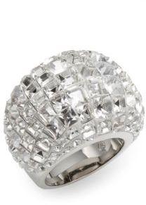 Trema Swarovski Crystal Dome Ring $260 thestylecure.com