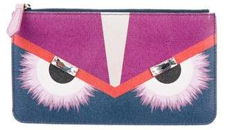 Fendi Vitello Elite Monster Zip Pouch