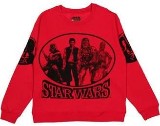 Star Wars Juniors' Graphic Sleeves Long Sleeve Sweatshirt