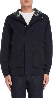 Parka London Navy Water Resistant Hooded Jacket