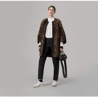 Amanda Wakeley Leopard Print Fur Coat