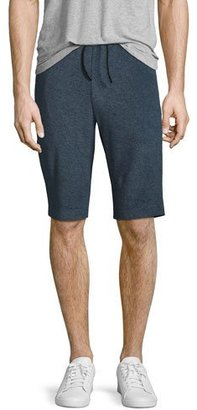 Theory Moris French Terry Sweat Shorts, Marine Blue $155 thestylecure.com