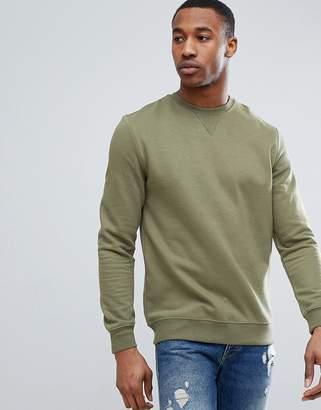 Pull&Bear Sweatshirt In Khaki