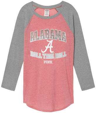 PINK University Of Alabama Bling Perfect Baseball Tee