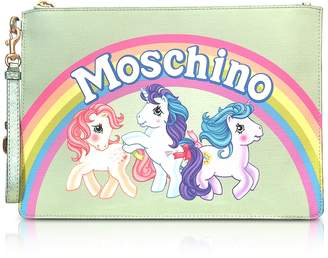 Moschino My Little Pony Aqua Clutch w/Wristlet