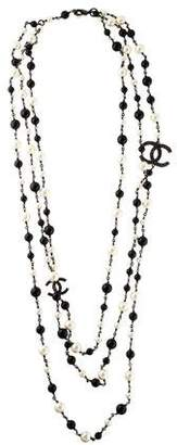 Chanel Pearl & Bead CC Multistrand Necklace