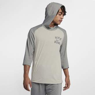 Nike Flux Hooded Men's 3/4 Sleeve Baseball Top