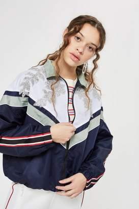 Topshop PETITE Embellished Windbreaker Jacket