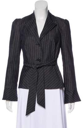 Trina Turk Striped Denim Jacket