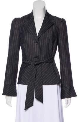 Trina Turk Striped Denim Jacket