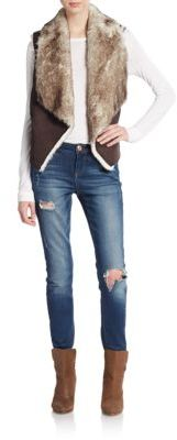 Faux Fur Vest $178 thestylecure.com
