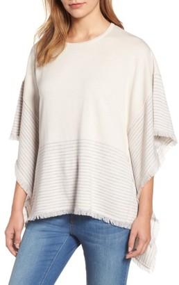 Women's Vineyard Vines Stripe Poncho Sweater $148 thestylecure.com