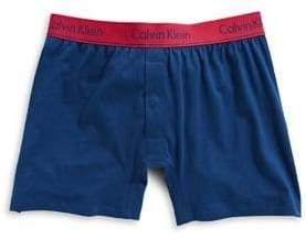 Calvin Klein Logo Slim-Fit Cotton Boxer