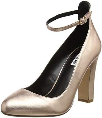 Dune Women's Aalto Ankle Strap Heels, (Rose Gold), 36 EU