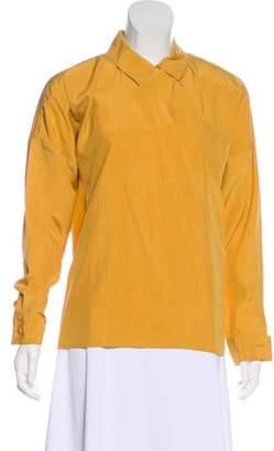 Gucci Long Sleeve Silk Top