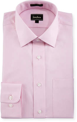 Neiman Marcus Classic-Fit Non-Iron Dobby Dress Shirt, Pink