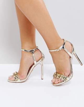 Carvela Gail Rose Gold Embellished Heeled Sandals