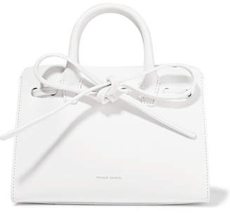Mansur Gavriel Sun Mini Mini Leather Tote - White