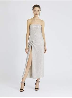 Oscar de la Renta Sequin-Embroidered Silk-Chiffon Gown