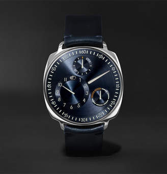 Ressence Type 1 Squared Mechanical 40mm Stainless Steel And Leather Watch