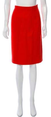 Chanel Wool Skirt Red Wool Skirt