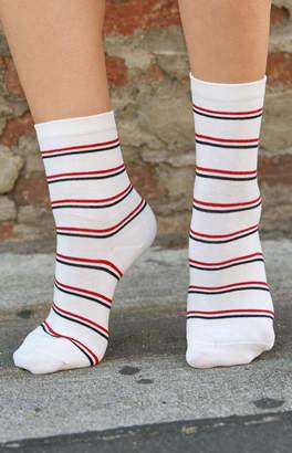 John Galt Striped Crew Socks