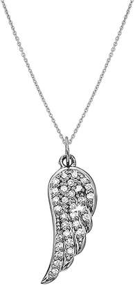 KC Designs Women's Angel Wing Diamond and 14K White Gold Pendant Necklace
