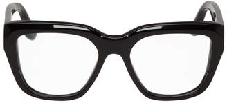 Victoria Beckham Black Bevelled Square Glasses
