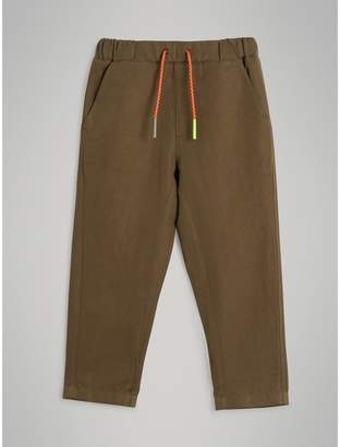Burberry Cotton Linen Drawcord Trousers