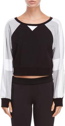 Blanc Noir Flashback Cropped Sweatshirt