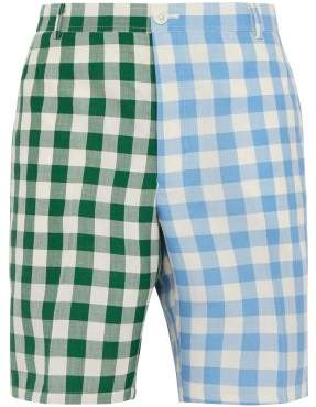 Thom Browne Unconstructed Checked Shorts - Mens - Green