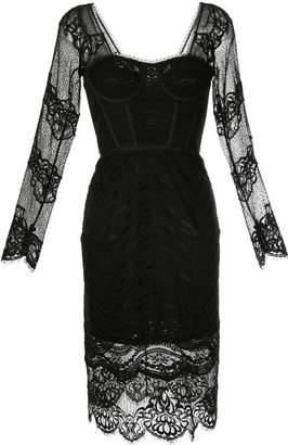 Jonathan Simkhai mixed-lace bustier dress