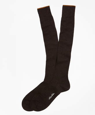 Brooks Brothers Merino Wool Golden Fleece Sized Over-the-Calf Socks